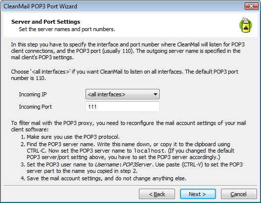 How To Install CleanMail As POP3 Proxy On Your Mail Server